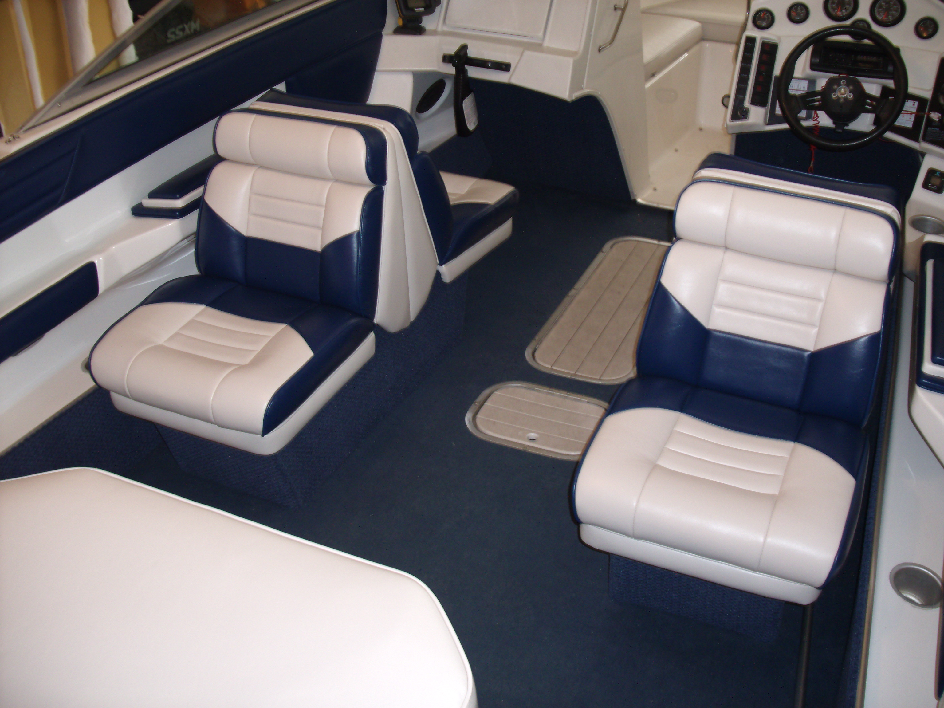 Boat Interiors Sun Decks Seats Covers Canopy